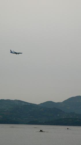 飛行機とボート