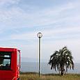 唐比の赤いバス