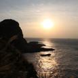 断崖の夕日