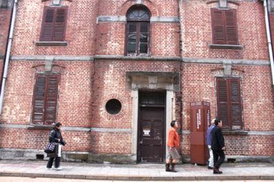 旧長崎英国領事館裏
