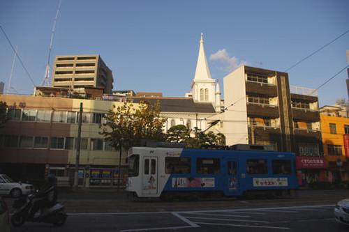 電車と教会